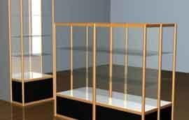 钛合金展示柜货架透明度好,结构紧密平整光滑耐用